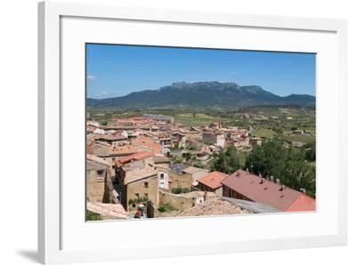 Rooftops in San Vicente De La Sonsierra, La Rioja, Spain, Europe-Martin Child-Framed Photographic Print
