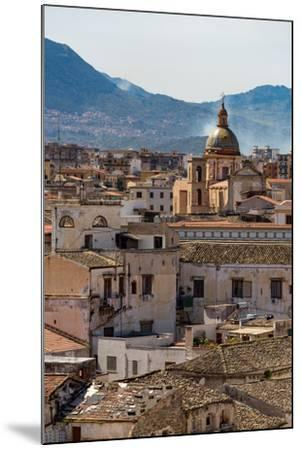 View of the Rooftops of Palermo with the Hills Beyond, Sicily, Italy, Europe-Martin Child-Mounted Photographic Print