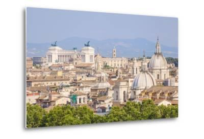 Churches and Domes of the Rome Skyline Showing Victor Emmanuel Ii Monument in the Distance, Rome-Neale Clark-Metal Print