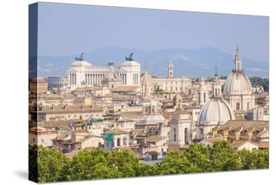 Churches and Domes of the Rome Skyline Showing Victor Emmanuel Ii Monument in the Distance, Rome-Neale Clark-Stretched Canvas Print
