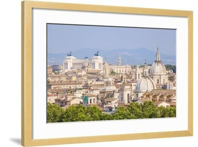 Churches and Domes of the Rome Skyline Showing Victor Emmanuel Ii Monument in the Distance, Rome-Neale Clark-Framed Photographic Print