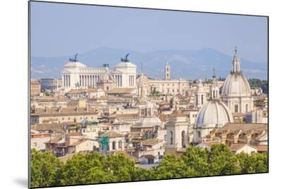 Churches and Domes of the Rome Skyline Showing Victor Emmanuel Ii Monument in the Distance, Rome-Neale Clark-Mounted Photographic Print