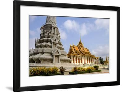Silver Pagoda Inside the Royal Palace, Dated 19th Century, Phnom Penh, Cambodia, Indochina-Nathalie Cuvelier-Framed Photographic Print