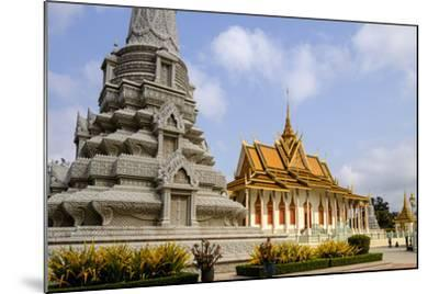 Silver Pagoda Inside the Royal Palace, Dated 19th Century, Phnom Penh, Cambodia, Indochina-Nathalie Cuvelier-Mounted Photographic Print