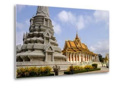 Silver Pagoda Inside the Royal Palace, Dated 19th Century, Phnom Penh, Cambodia, Indochina-Nathalie Cuvelier-Metal Print