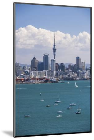 Auckland City Skyline and Auckland Harbour Seen from Devenport, North Island, New Zealand, Pacific-Matthew Williams-Ellis-Mounted Photographic Print
