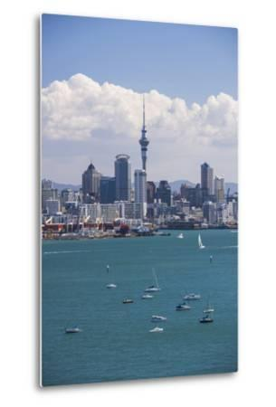 Auckland City Skyline and Auckland Harbour Seen from Devenport, North Island, New Zealand, Pacific-Matthew Williams-Ellis-Metal Print