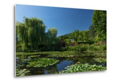 Monet's House Behind the Waterlily Pond, Giverny, Normandy, France, Europe-James Strachan-Metal Print
