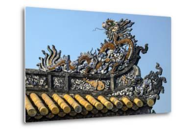Thai Hoa Palace Dated 19th Century, Roof Detail-Nathalie Cuvelier-Metal Print