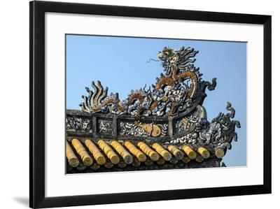 Thai Hoa Palace Dated 19th Century, Roof Detail-Nathalie Cuvelier-Framed Photographic Print