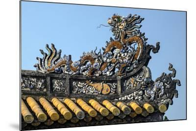 Thai Hoa Palace Dated 19th Century, Roof Detail-Nathalie Cuvelier-Mounted Photographic Print