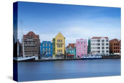 St. Anna Bay Looking Towards Colonial Merchant Houses Lining Handelskade Along Punda's Waterfront-Jane Sweeney-Stretched Canvas Print