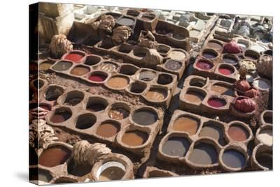 Tannery, Fes, Morocco-Natalie Tepper-Stretched Canvas Print
