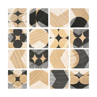 Graphic Blocks 8-Art Kitchen-Framed Premium Giclee Print