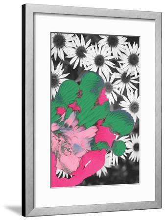 Pigment Smudge, Daisies-Art Kitchen-Framed Premium Giclee Print