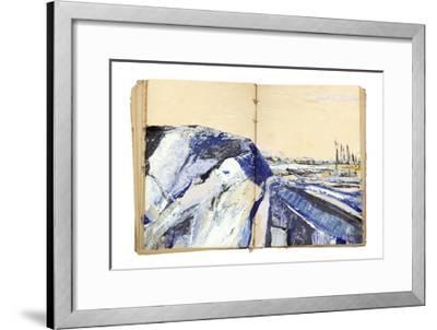 Sketchbook Landscape 4-The Trainyard Cooperative-Framed Premium Giclee Print