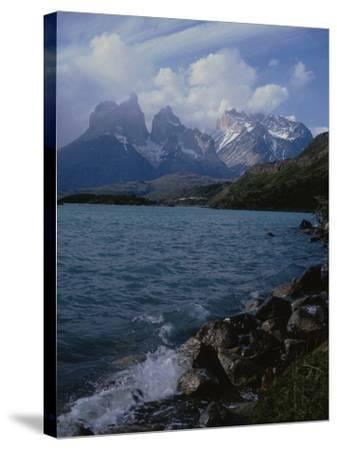 Lake Pehoe, Torres Del Paine National Park, Patagonia, Chile-Natalie Tepper-Stretched Canvas Print