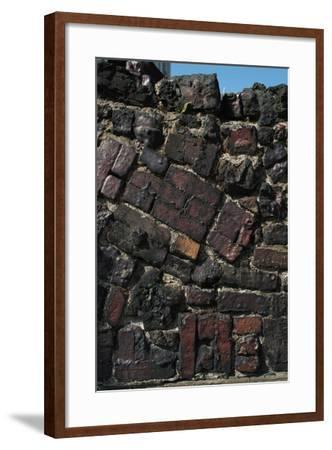 Close Up of Higgledy Piggeldy Patchwork Brick Wall-Natalie Tepper-Framed Photo