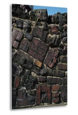 Close Up of Higgledy Piggeldy Patchwork Brick Wall-Natalie Tepper-Metal Print