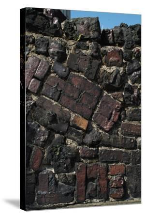 Close Up of Higgledy Piggeldy Patchwork Brick Wall-Natalie Tepper-Stretched Canvas Print