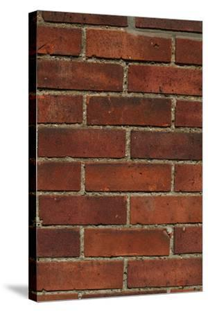 Close Up of a Red Clay Brick and Mortar Wall-Natalie Tepper-Stretched Canvas Print