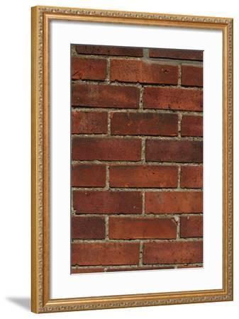 Close Up of a Red Clay Brick and Mortar Wall-Natalie Tepper-Framed Photo