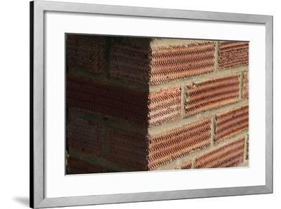 Close Up of a Surface Patterned Brick Wall-Natalie Tepper-Framed Photo
