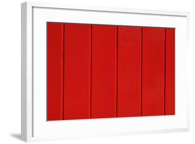 Close Up of a Red Painted Timber Building-Natalie Tepper-Framed Photo