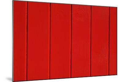 Close Up of a Red Painted Timber Building-Natalie Tepper-Mounted Photo