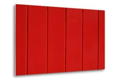 Close Up of a Red Painted Timber Building-Natalie Tepper-Metal Print