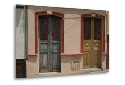 Painted Doorways in La Candelaria (Old Section of the City), Bogota, Colombia-Natalie Tepper-Metal Print