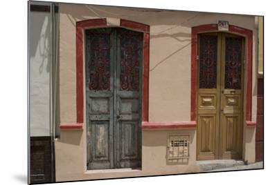 Painted Doorways in La Candelaria (Old Section of the City), Bogota, Colombia-Natalie Tepper-Mounted Photo