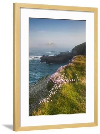 Coastal Cliffs, Godrevy Point, Nr St Ives, Cornwall, England-Paul Harris-Framed Photographic Print