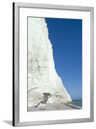 The White Cliffs at Seven Sisters Beach, East Sussex, England-Natalie Tepper-Framed Photo