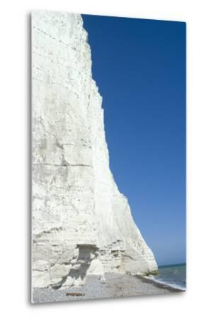 The White Cliffs at Seven Sisters Beach, East Sussex, England-Natalie Tepper-Metal Print