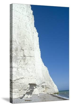 The White Cliffs at Seven Sisters Beach, East Sussex, England-Natalie Tepper-Stretched Canvas Print