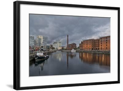 View Towards Albert Dock, Liverpool, Merseyside, England-Paul McMullin-Framed Photo