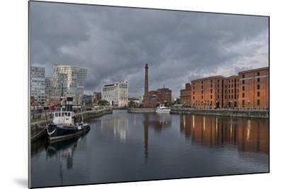 View Towards Albert Dock, Liverpool, Merseyside, England-Paul McMullin-Mounted Photo