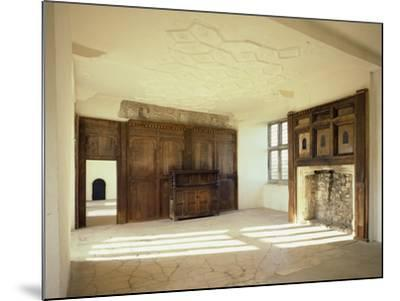 Interior View of the First Floor Room in the Tudor Mansion, Helmsley Castle, North Yorkshire, UK-English Heritage-Mounted Photo