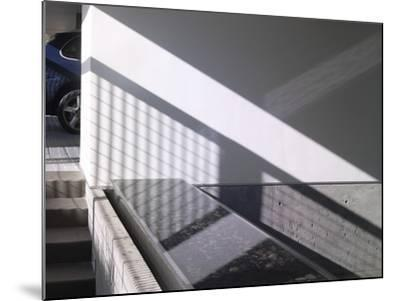 Car Parked at Modern Exterior of Residential House-John Edward Linden-Mounted Photo