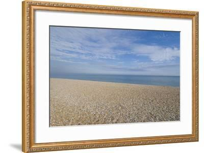 Pebble Beach, Bexhill-On-Sea, East Sussex, England-Natalie Tepper-Framed Photo