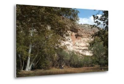 Montezuma Castle National Monument, Arizona, Usa, C. 1400. Sinagua Cliff Dwellings-Natalie Tepper-Metal Print