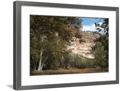 Montezuma Castle National Monument, Arizona, Usa, C. 1400. Sinagua Cliff Dwellings-Natalie Tepper-Framed Photo