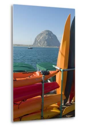 Morro Bay, California, Usa Canoes-Natalie Tepper-Metal Print
