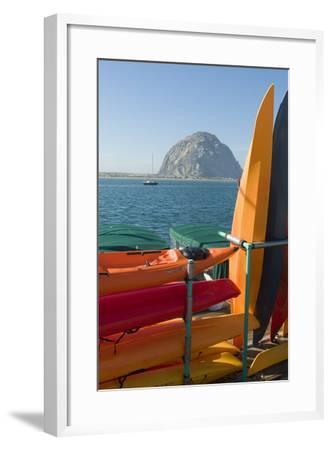 Morro Bay, California, Usa Canoes-Natalie Tepper-Framed Photo