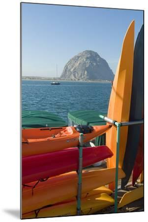 Morro Bay, California, Usa Canoes-Natalie Tepper-Mounted Photo
