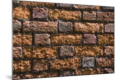 Detail of an Ancient Brick Wall-Natalie Tepper-Mounted Photo