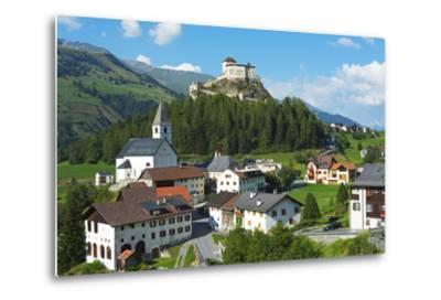 Europe, Switzerland, Graubunden, Engadine, Scuol Tarasp, Scuol Castle, (Schloss Tarasp)-Christian Kober-Metal Print