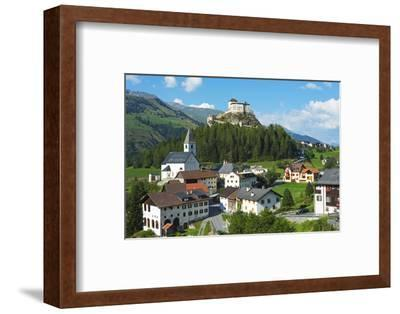 Europe, Switzerland, Graubunden, Engadine, Scuol Tarasp, Scuol Castle, (Schloss Tarasp)-Christian Kober-Framed Photographic Print