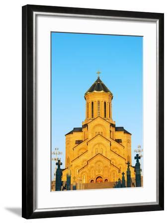 Eurasia, Caucasus Region, Georgia, Tbilisi, Tbilisi Sameda Cathedral-Christian Kober-Framed Photographic Print
